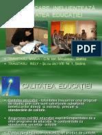 12 Factori Care Influenteaza Calitatea Educatiei