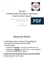 PET 305 Reservoir Rock Property - Porosity(1)