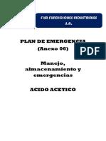 Plan de Emergencia Acido ACETICO