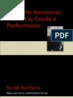 Using the Stanislavski Method to Create a Performance