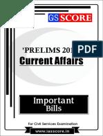 Important Bills - PT Current Affairs