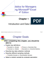 Statistics of Managers using Excel Chapter 1
