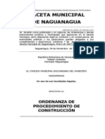 Oredenaza de Procedimento de Construccion- Naguanagua