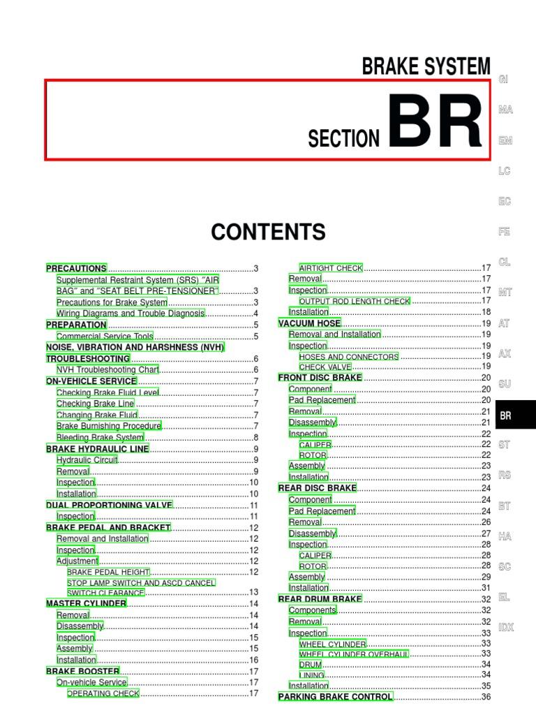 Disc brake system pdf