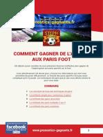 Comment Gagner Aux Paris Foot