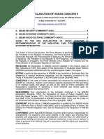 2003 Declaration of ASEAN Concord II-PDF