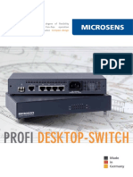 MICROSENS Profi Desktop-Switch EN2913