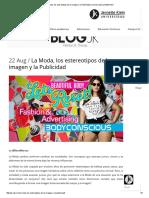 La Moda, Los Estereotipos de La Imagen y La Publicidad _ Universidad Jannette Klein