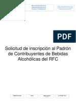 Guis Solicitud de Inscripción Al Padrón de Contribuyentes de Bebidas Alcohólicas