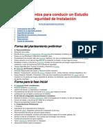 rebuilt.Procedimientos para conducir un Estudio de Seguridad de Instalación.docx