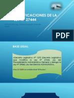 Modificaciones de La Ley Nº 27444 2