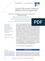 11 - (2013) a 24-Year Follow-Up Study of Blood Pressure Tracking From Childhood to Adulthood in Korea the Kangwha Study