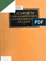 Gemmen Und Kameen Des Altertums Und Der Neuzeit 1695 Georg Lippold 1922