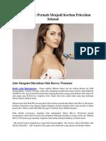 Angelina Jolie Permah Menjadi Korban Pelecehan Seksual