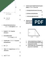 Quadratics and Equations Homework (2)