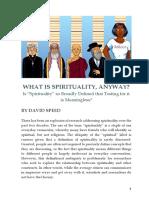 David Speed -- What is Spirituality