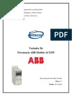 Variador de Frecuencia Abb Acs355