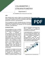 Colorimetry / Spectrophotometry