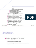 Distirbuted DataBase Architecture