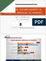 CAUSALIDAD DE INCUMPLIMIENTO - AVANCES OCTUBRE 2016 (2).pptx