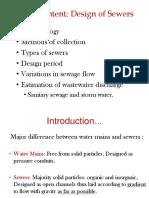 Design of Sewer