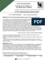 Devoir de Synthèse N°1 - Sciences physiques - Bac Sciences exp (2016-2017) Mr RIDHA BEN YAHMED