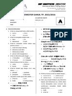 Soal q.h Kelas 7 Paket A