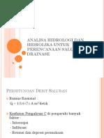 312839796-Analisa-Hidrologi-Dan-Hidrolika-Untuk-Perencanaan-Saluran-Drainase.pptx