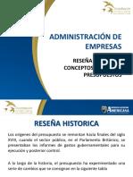 1. Reseña Historica, Conceptos y Tipos de Presupuestos