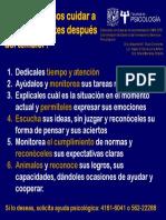 Infograma Como Podemos Cuidar a Los Adolescentes Despues Del Temblor Fac Psicologia UNAM