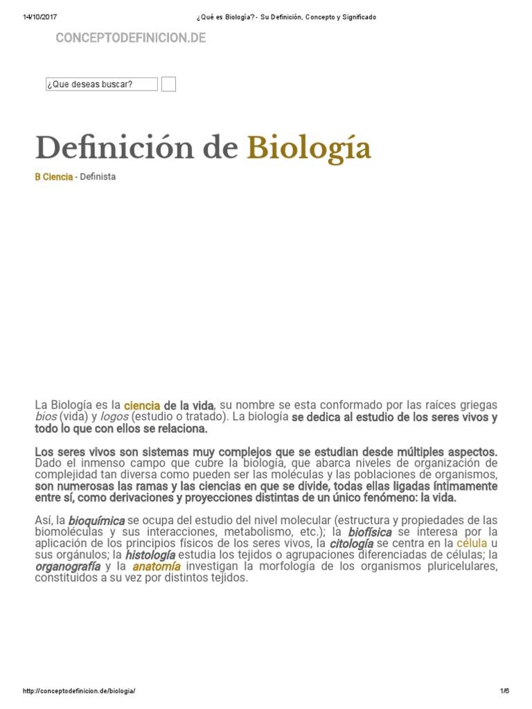 Qué Es Biología_ - Su Definición, Concepto y Significado