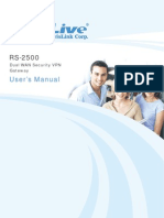 AirLive RS-2500 - Dual WAN Security VPN Gateway - User's Manual