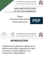 Mecanismos Implicitos en El Deterioro de Los Alimentos