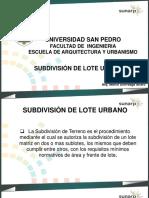 Subdivisión de Lote Urbano