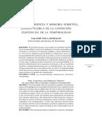 Tiempo, Experiencia y Memoria Subjetiva. Ensayo acerca de la Condición Existencial de la Temporalidad.pdf