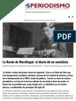 La Razón de Mariátegui_ El Diario de Un Socialista