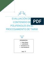 Evaluación Del Contenido de Polifenoles en El Procesamiento de Tarwi