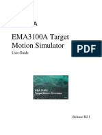 EMA3100A Target Motion Simulator User Guide - Chap0