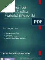 Instrumentasi Dalam Analisa Material (Mekanik)