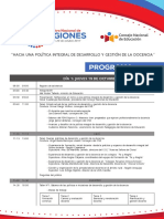 """XII Encuentro Nacional de Regiones - """"Hacia una política integral de desarrollo y gestión de la docencia"""""""