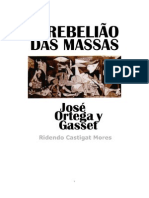 Ortega y Gasset _Rebeliao Das Massas