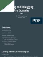 Running Through Rya Examples