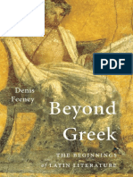 Denis Feeney Beyond Greek the Beginnings of Latin Literature 2016