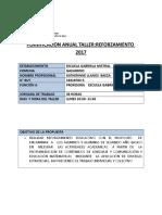 PLANIFICACION DE TALLERES 2° A