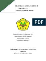 Laporan Praktikum Kimia Analitik i1