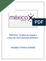 Práctica MOOC ''Análisis de cargas y costos de una instalación eléctrica''