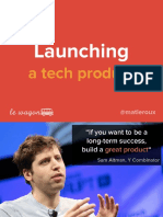 Le Wagon - Launching a Tech Product