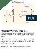 quarterwave monople