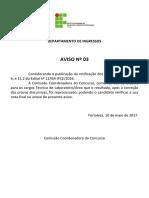 Edital 12-2016 (Resultado - Técnico em Laboratório)