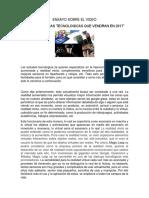 Ensayo Tecnologico Tendencias-2017